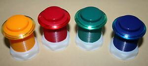 Arcade-Taster-3-Jamma-Mame-Aktionstaster-Neu-Push-Button-Mikroschalter