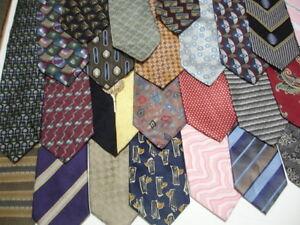 Mens-DESIGNER-Silk-Neck-Ties-Neckties-Lot-of-7-Woven-Executive-Stripes-Paisley