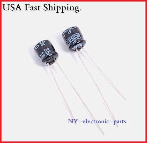 20x 10UF 35V RUBYCON RADIAL ELECTROLYTIC CAPACITORS 5X6MM 35V10UF