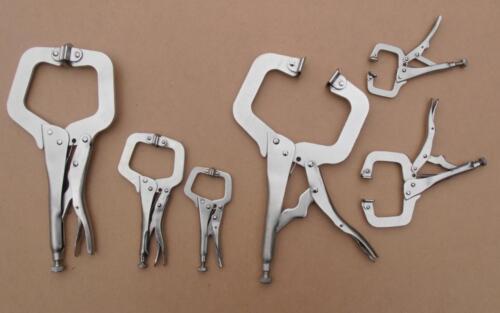 "6pc, 4"" 6""& 11""Locking Mole Grip C Clamp Pliers, Ideal For Welding Etc."