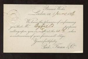 GB-QV-STATIONERY-1883-1-2d-PINK-PRIVATE-PRINTED-SALES-REP-PEEK-FREAN-BISCUITS