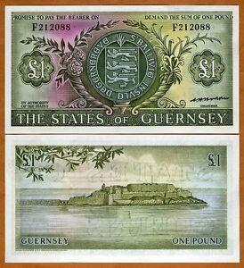 Guernsey-1-Pound-ND-1969-1975-P-45-45b-UNC