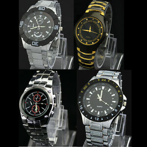 Wholesale-Promo-Fashion-Stainless-Steel-Mens-Luxury-Quartz-Wrist-Watch-Watches
