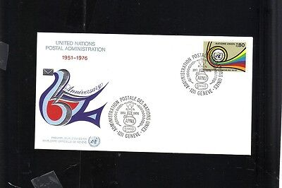 FDC 1976 GENEVA UNITED NATIONS POSTAL ADMIN 25TH ANNIV .80 STAMP FIRST DAY COVER