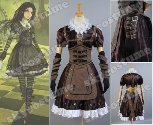 Alice Madness Returns Alice Stream Kleid Cosplay Kostüme Cosplay [DE]