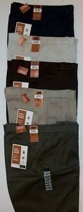 Haggar-Look-Sharp-Khaki-Men-039-s-Dress-Pants-Invisible-Flex-Waist-No-Iron