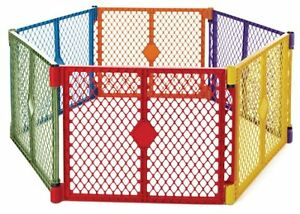 Portable Indoor Outdoor Safety Fence Play Yard Playpen Kids Children Pets Safe
