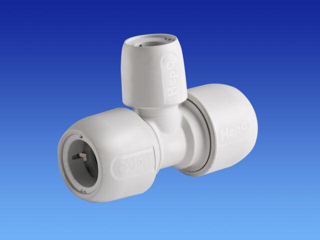 5 x Wavin Hep2O 22-22-15mm reducing tees. Hep20 Hep 20 2O push fit reducer 22mm