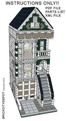 Lego Custom Modular Building - San Francisco Victorian House - INSTRUCTIONS ONLY