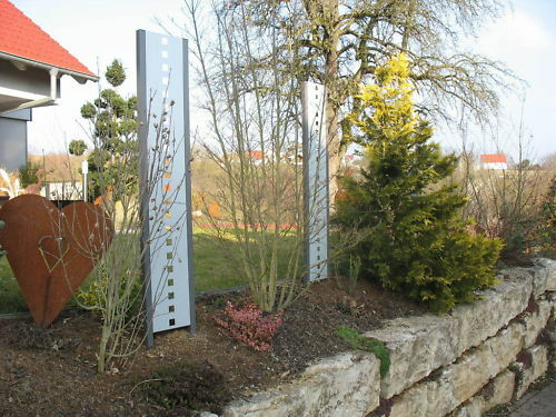 Stelen Zaun Sichtschutz Raumteiler Metall Gartendeko