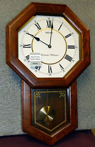 Seiko School House Wall Clock With Dual Chimes Qxh110blh