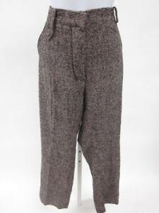 SONIA-RYKIEL-Black-Tweed-Wool-Trousers-Pants-Sz-42