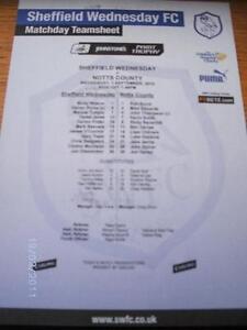 01-09-2010-Colour-Teamsheet-Sheffield-Wednesday-v-Notts-County-Johnstone-Paint