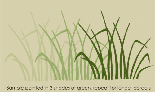 """Marsh 11/"""" Grass Stencil Rustic Hunt Blind Mountain Cabin Outdoor Background Wall"""