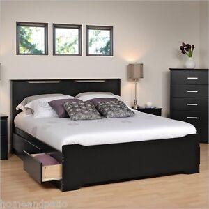 black full roomsaver bed w4drawer storage unit