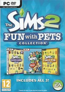The-Sims-2-Fun-with-Pets-Collection-3-Expansion-Pack-for-PC-Brand-New-Sealed