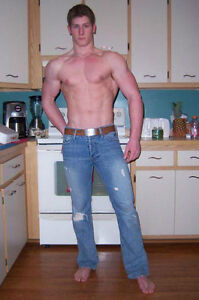 Tall City Delivery >> Shirtless Male Tall Hunk Muscular Torn Jeans Bare Feet Dude PHOTO 4X6 P1566 | eBay