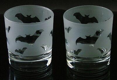Bat gift Whisky Glasses heavy base.