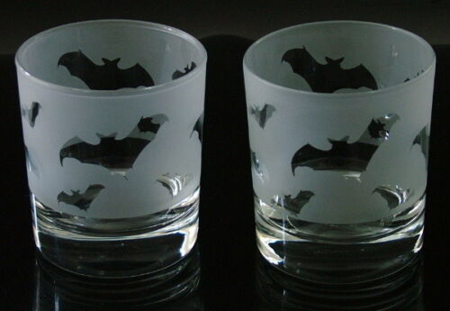 Bat gift Whisky Glasses heavy base.
