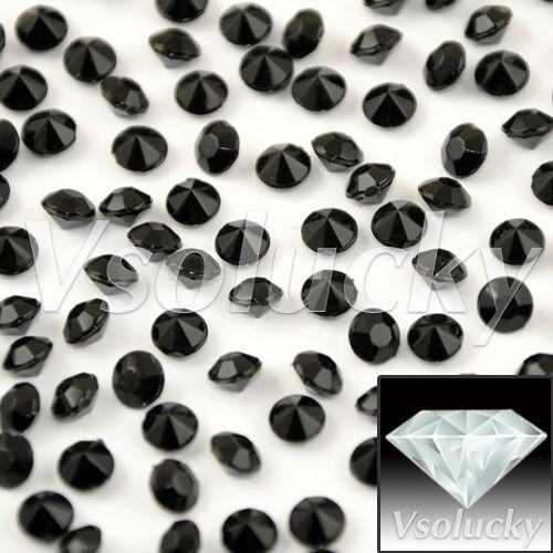 1000PCS 4.5mm Diamond Confetti Wedding Supply Party Acrylic Crystals Decoration