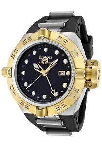 Invicta-Watch-1157-Mens-Subaqua-GMT-Black-Dial-Black-Rubber