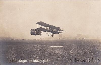 * AVIAZIONE - Aeroplano Delagrande - Volo a Milano 1908