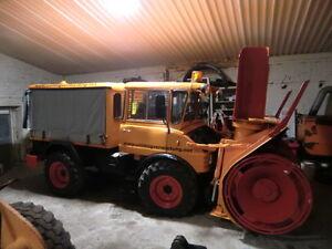 Unimog-406-Schneefraese-Schneeschleuder-Schmidt-Winterdienst-TOP-Zustand
