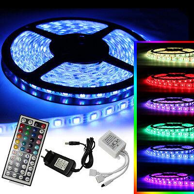 1m-10m LED RGB SMD5050 30/60 LEDs Streifen Strip Band Leiste+Controller+Trafo