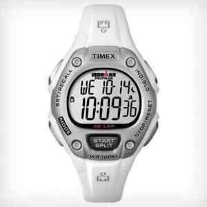Timex-Women-039-s-Ironman-30-Lap-Watch-White-Resin-Alarm-Indiglo-T5K515