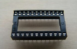 500pcs-24-Pin-2-54mm-DIP-SIP-IC-Sockets-Adaptor-Solder-Type-Wide