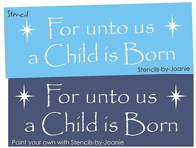 STENCIL Child Born Christmas Nativity Bethlehem Star Country Prim Holiday Sign