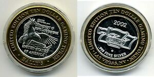 Ballys-Ten-Dollar-10-Gaming-Token-999-pure-silver-w-gold-tone-edging-Homeland