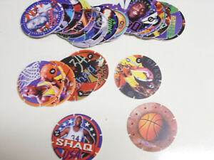 SHAQ-TACO-BELL-COMPLETE-POG-SET-of-ALL-24-POGS-RARE