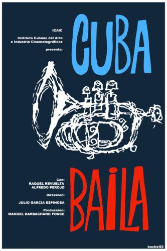 3047.Cuba baila music POSTER.Trumpet.Jazz. bedroom decor.Interior room wall art