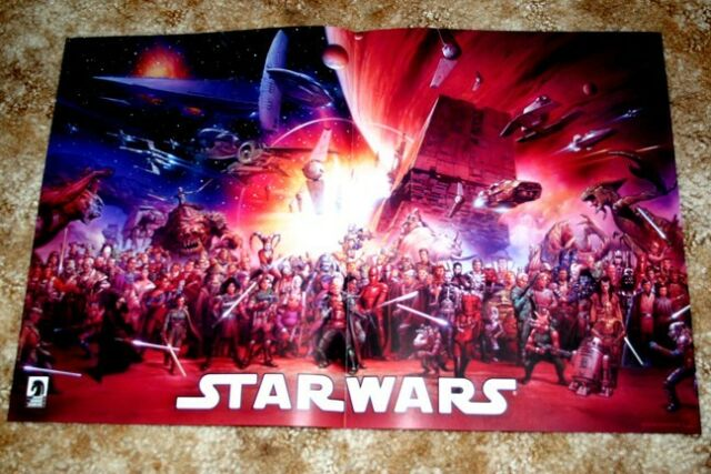 Star Wars Dark Horse '07 Promo Poster Star Wars Universe Timeline 110 characters