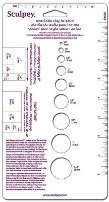 M00265 MOREZMORE Sculpey Measuring Guide Template for Baking Polymer Clay