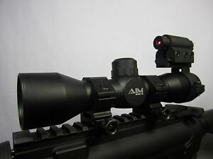 Mil-Dot-4x32-Tactical-Scope-and-Red-Laser-Sight-Combo-with-FREE-Scope-Rings