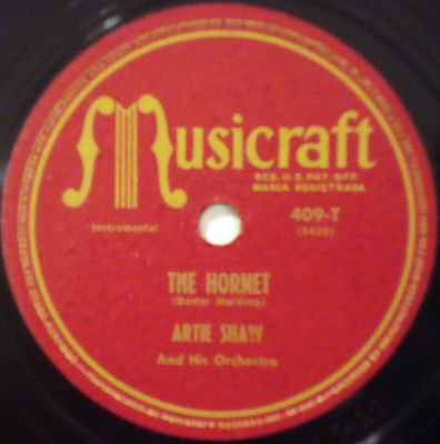 ARTIE SHAW & ORCHESTRA The Hornet MUSICRAFT JAZZ 78-409 How Deep Is The Ocean
