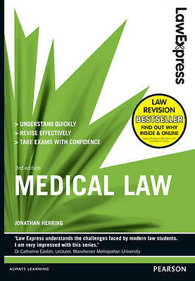 """AS NEW"" Law Express: Medical Law (Revision Guide), Herring, Jonathan, Book"