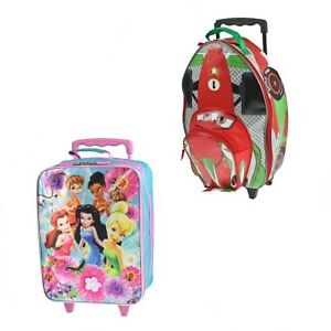 Disney-15-Rolling-Suitcase-Kids-Carry-On-Luggage-Wheels-Pixar-Cars-Fairies
