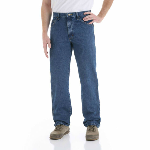 Wrangler Men's Regular Fit Jeans 100% Genuine Heavy cotton - Dark Stone