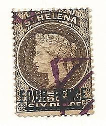 St. Helena, British Commonwealth, Postage Stamp, #38 Used, 1890 Remainder Cancel