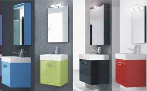 Mobile bagno cubo in colori per arredo sospeso con lavabo
