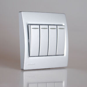 Image Is Loading Siemens Modern Design Light Switch Socket Vega Siliver