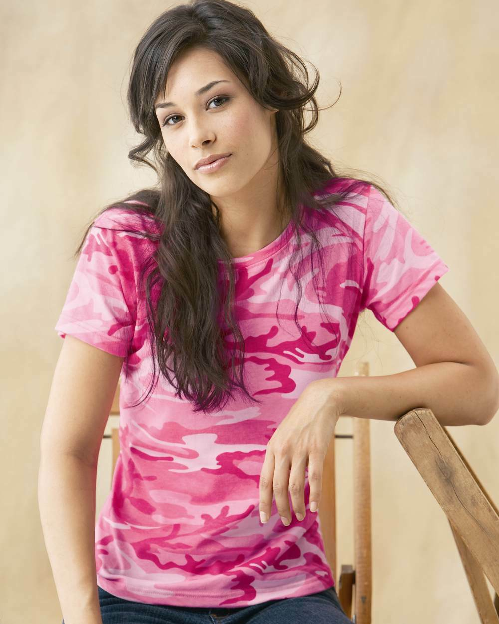25ced21e003f3 Code V Ladies Camouflage T-Shirt S-2XL Womens Cotton Camo Tee Hunting 3665