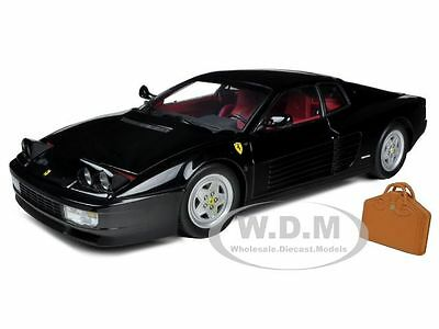 1989 FERRARI TESTAROSSA BLACK HIGH END VERSION 1/18 MODEL CAR BY KYOSHO 08425