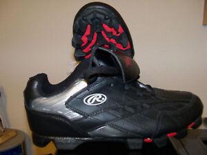 Rawlings-Baseball-Softball-Black-Red-Football-Cleats-Mens-Size-7-NWT-25