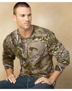 REALTREE-Mens-Size-Long-Sleeve-T-shirts-APG-or-AP-CAMO