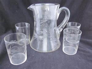 Cornflower Glass Pitcher