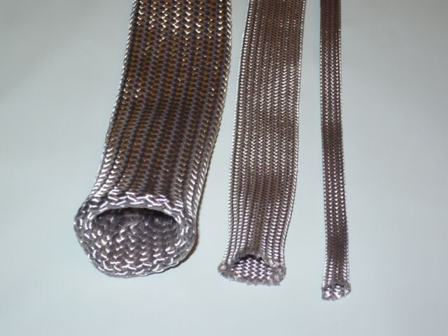 "1/2"" ## SILVER color ##  BRAIDED NYLON SLEEVING TECHFLEX    25 ft."